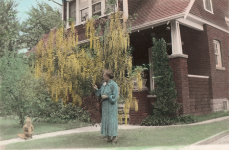 George Laurence Slinn and Rosemary Chappell Walsh at home in Niagara Falls Ontario