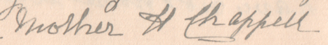 Signature of Harriet Oaten (1840-1914)