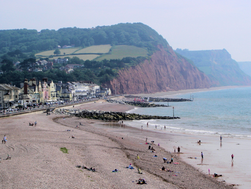 Sidmouth Beach by Touriste