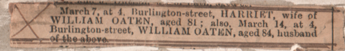 Obituary of William and Harriet (Bolt) Oaten